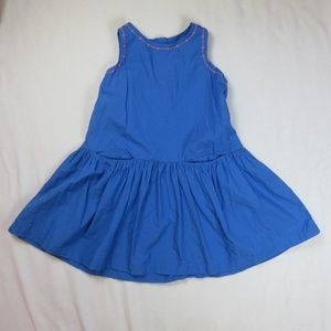 Hanna Andersson 110 5T 5 Dress Blue Sleeveless
